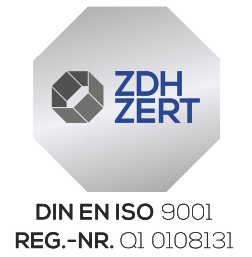 Siegel ISO-Zertifizierung
